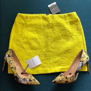 Topshop Bright Textured Mini Skirt with Pockets